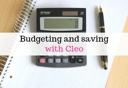 Budgeting and saving with Cleo
