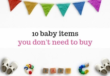 baby items you don't need to buy