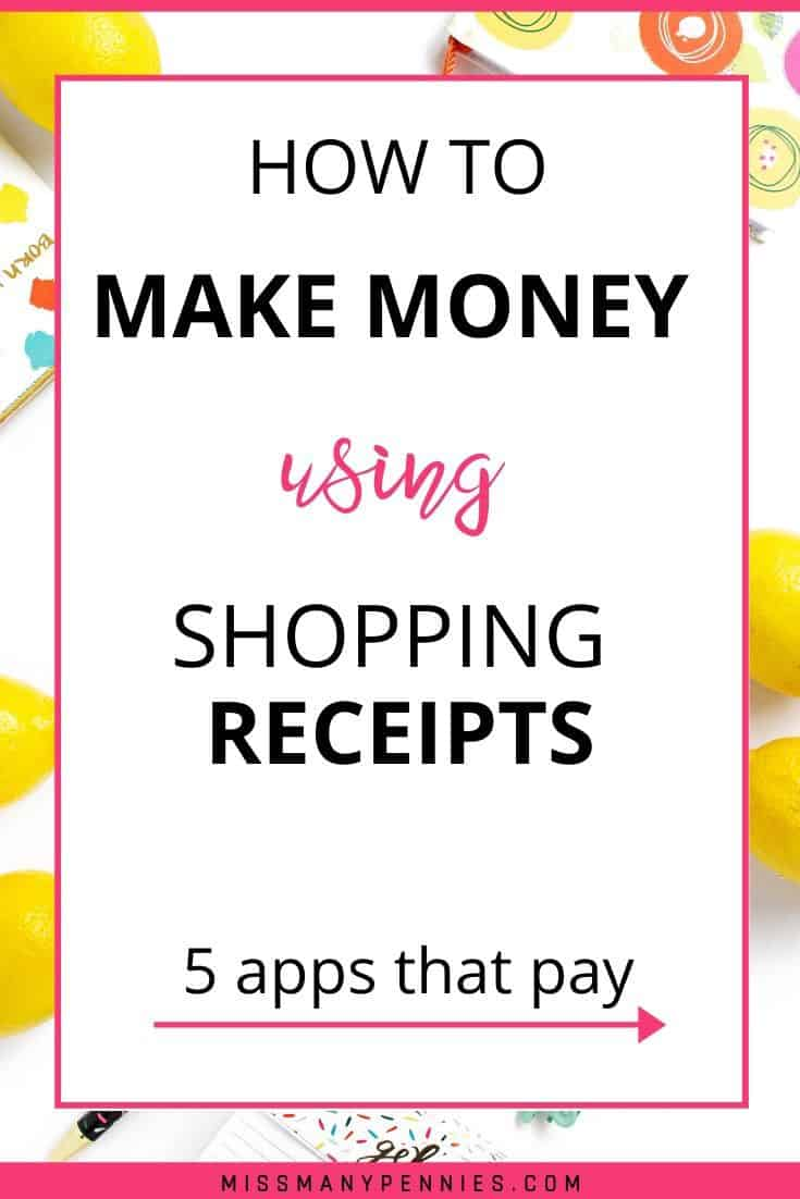 How to make money using shopping receipts
