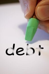 erasing word debt