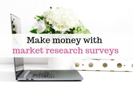 Make money with market research surveys