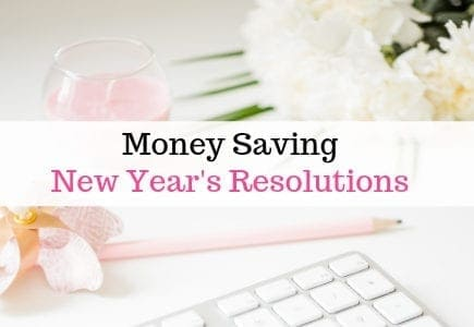 Money saving new year's resolution