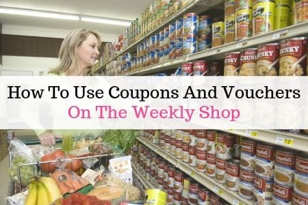 How to use coupons and vouchers on the weekly shop