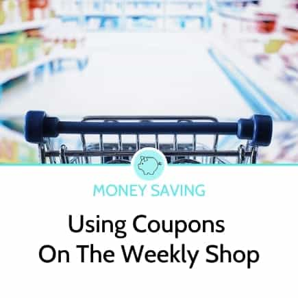 using coupons and vouchers on the weekly shop