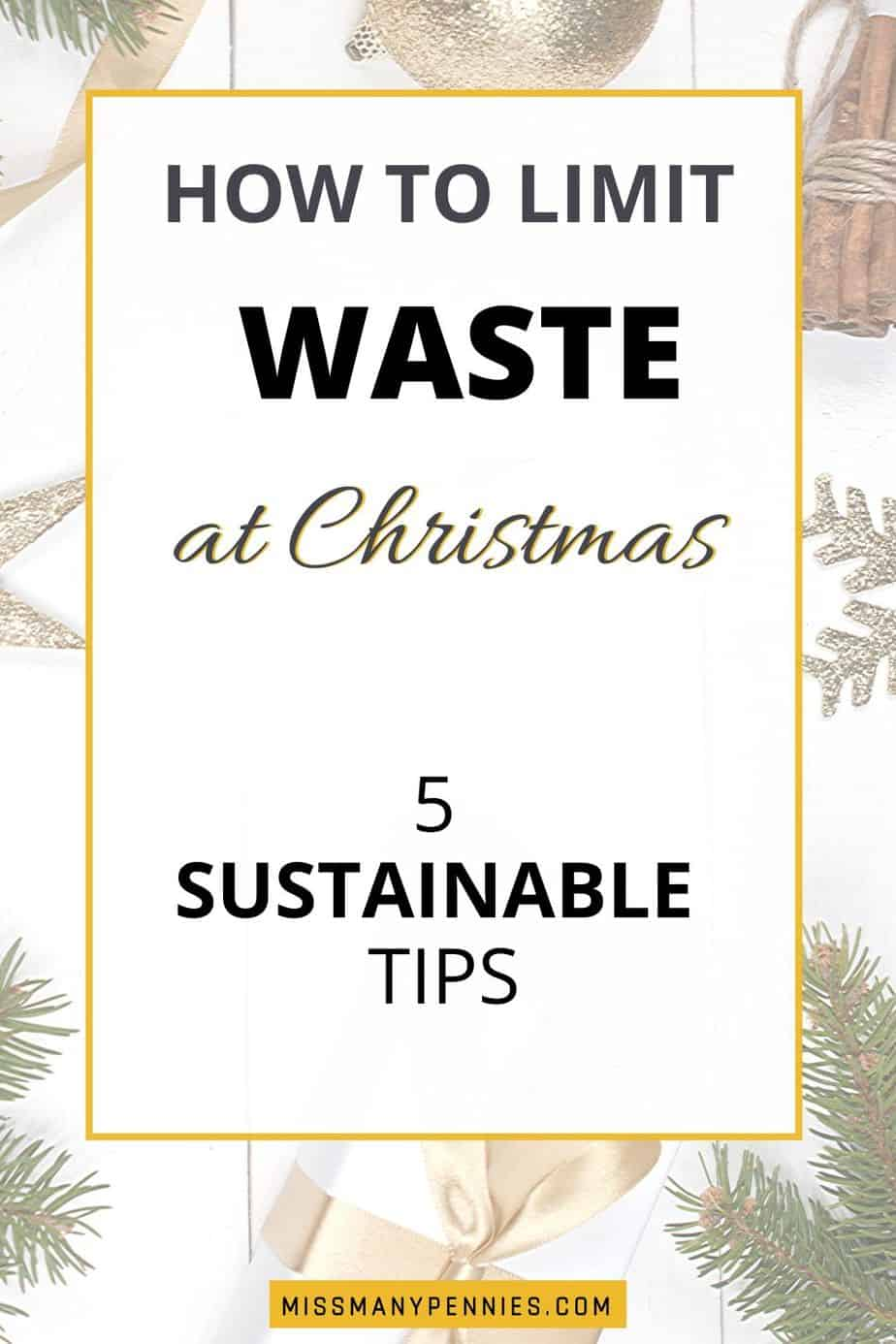 how to limit waste at Christmas