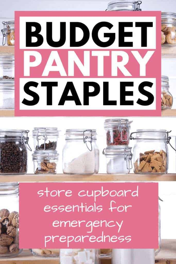 Budget pantry staples