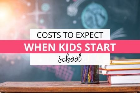 costs to expect when kids start school