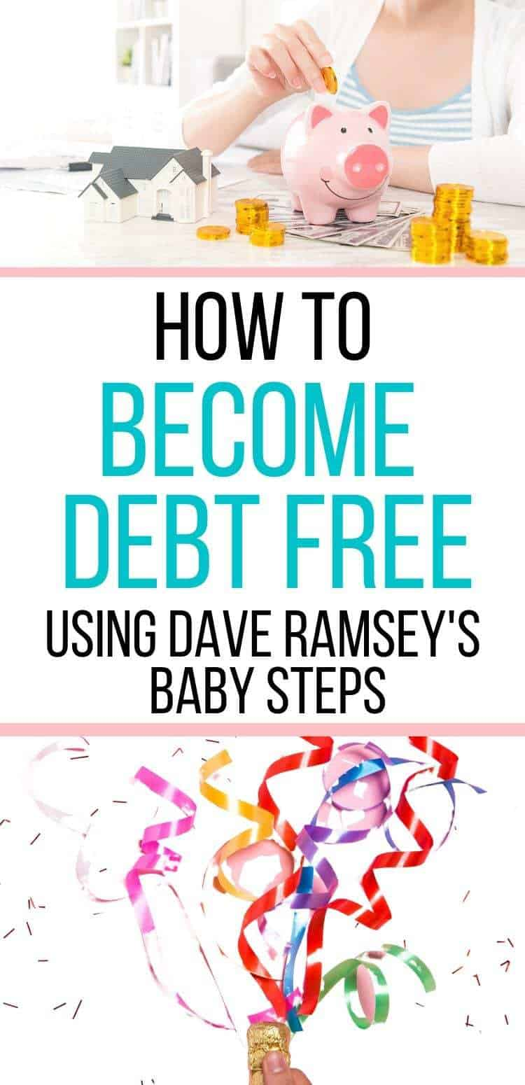 How to become debt free using Dave Ramsey's baby steps UK