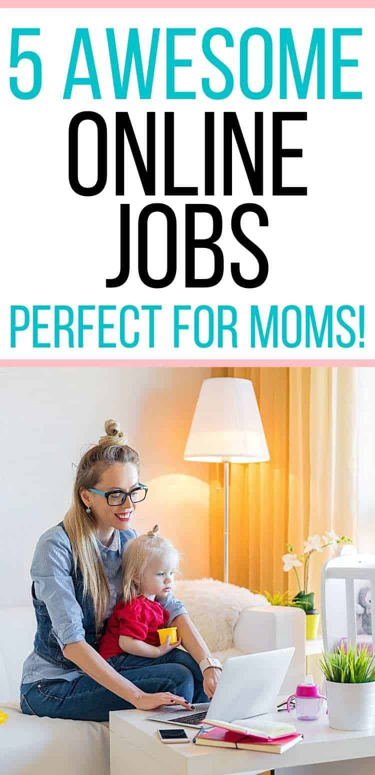 5 online jobs for moms