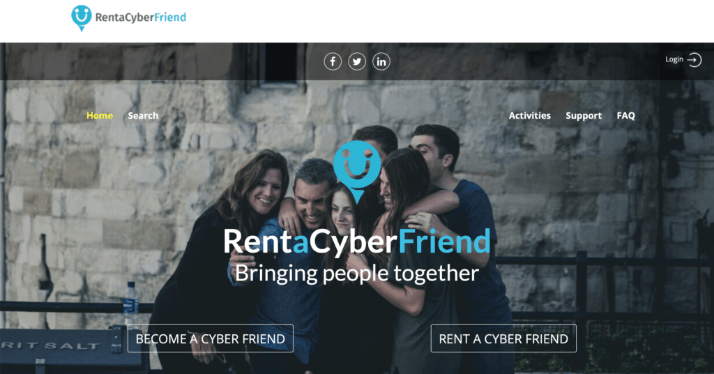 Rent a cyber friend homepage